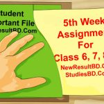 5th Week Assignment Of Class 6, 7, 8, 9
